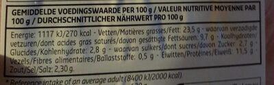 Saucisson de jambon - Informations nutritionnelles - fr