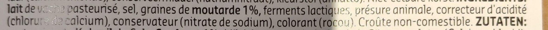 Oudendijk Moutarde - Ingrediënten - fr