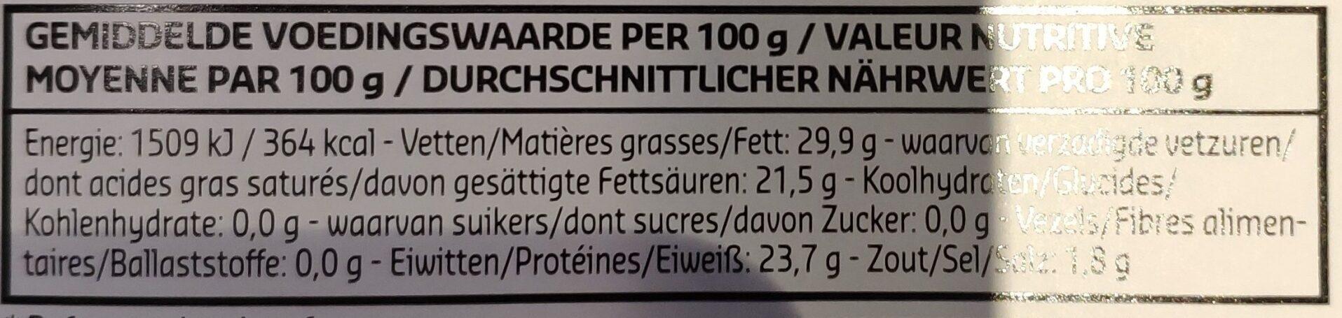 Oudendijk Moutarde - Informations nutritionnelles - fr