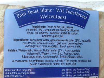 Pain toast blanc - 3