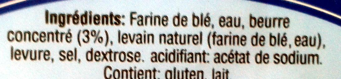 Pain toast blanc - Ingrediënten