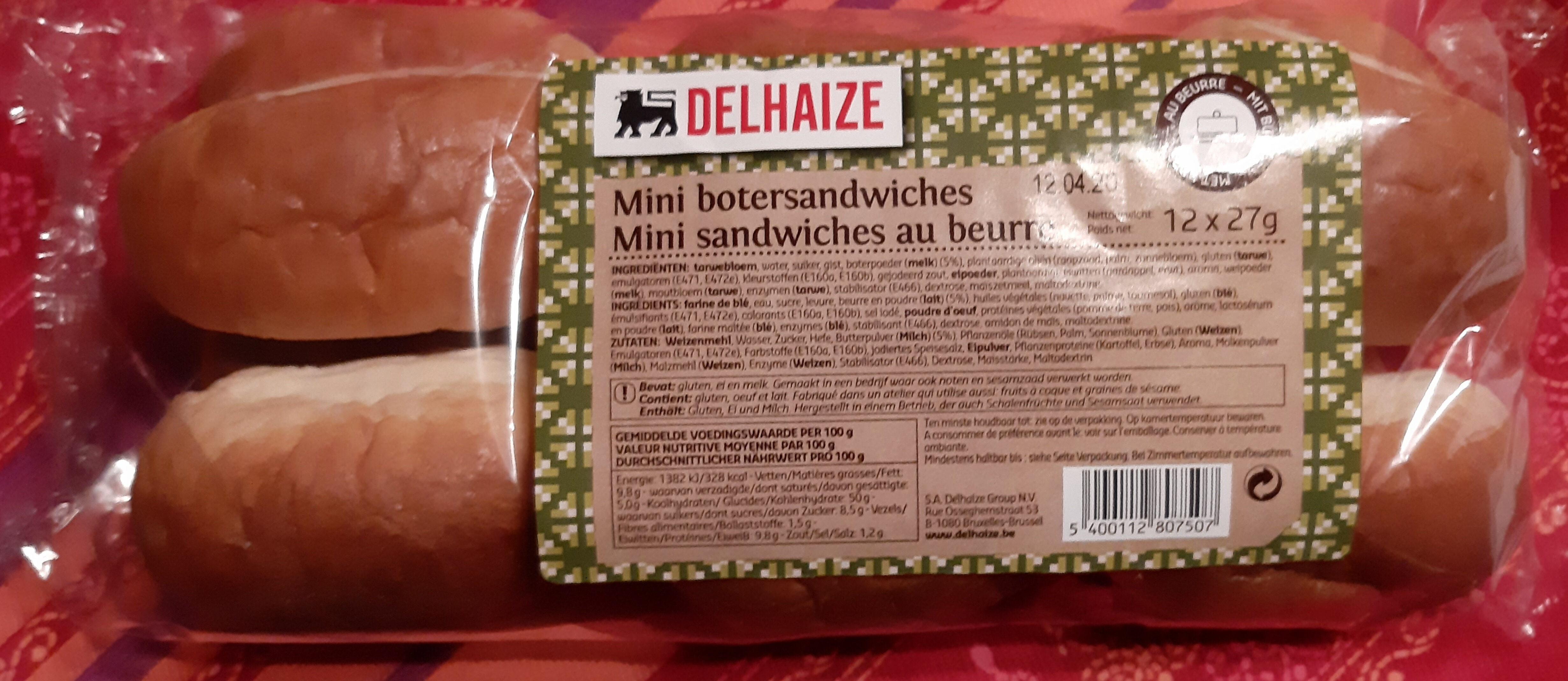 Mini sandwiches au beurre - Produit - fr