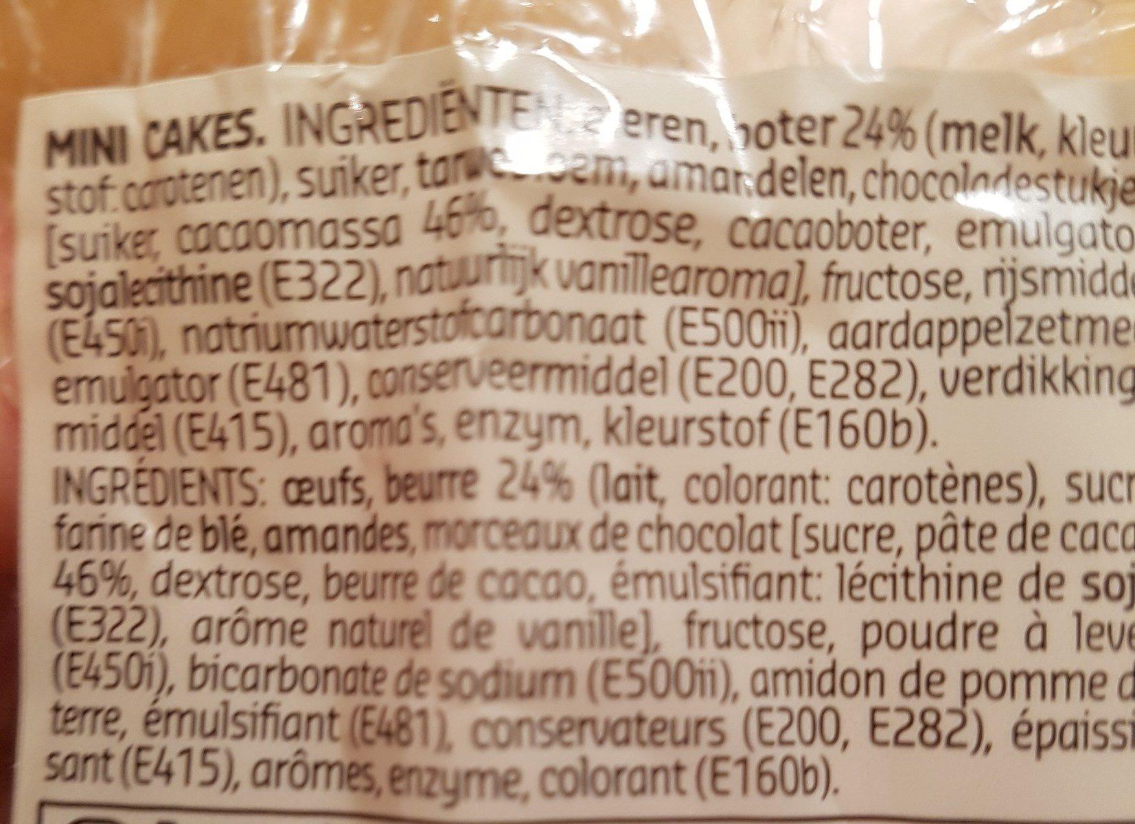 Mini Cakes - Ingrediënten
