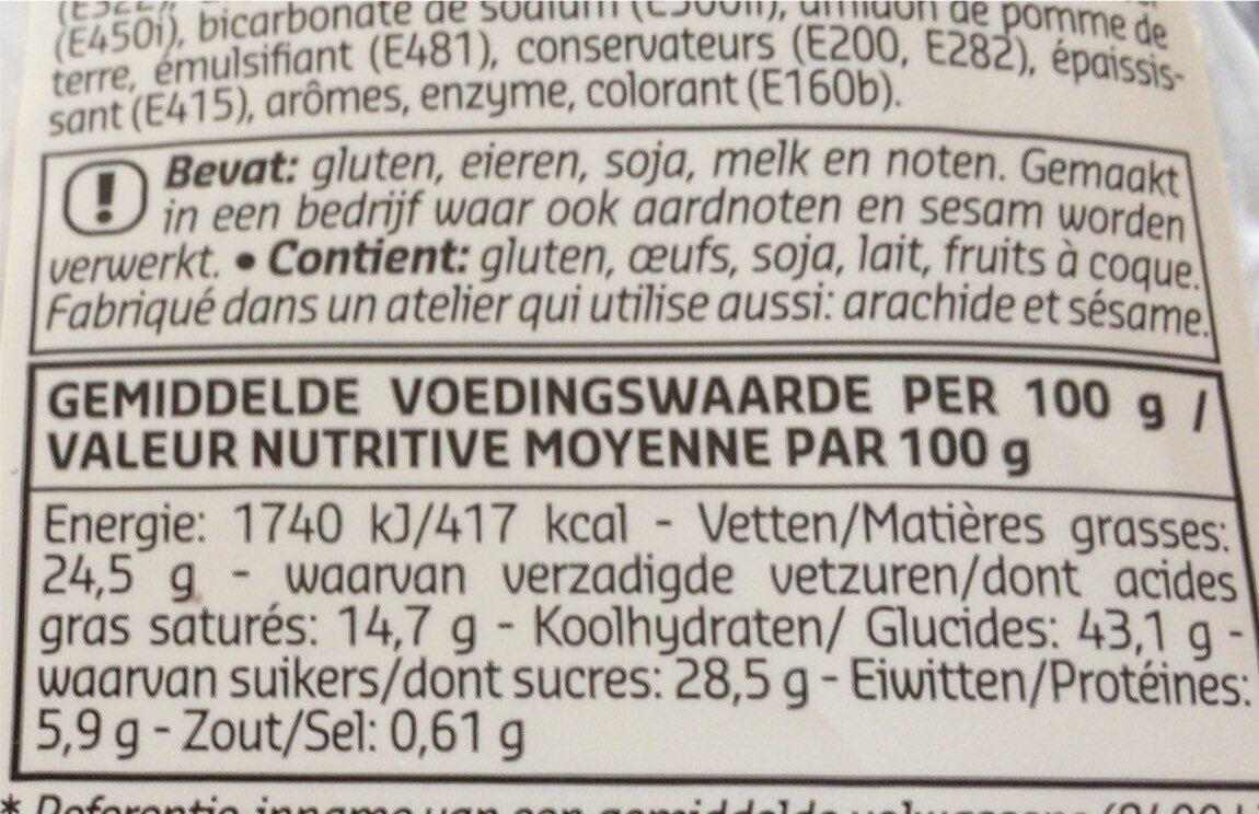 Mini Cakes - Voedingswaarden - fr
