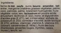 Frangipane aux Fruits des Bois - Ingredients