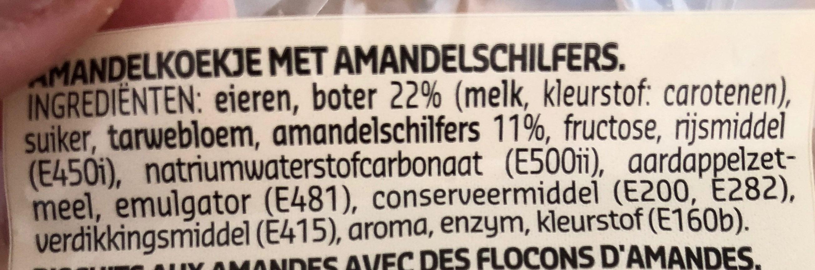 Amandines 100% beurre frais - Ingrediënten