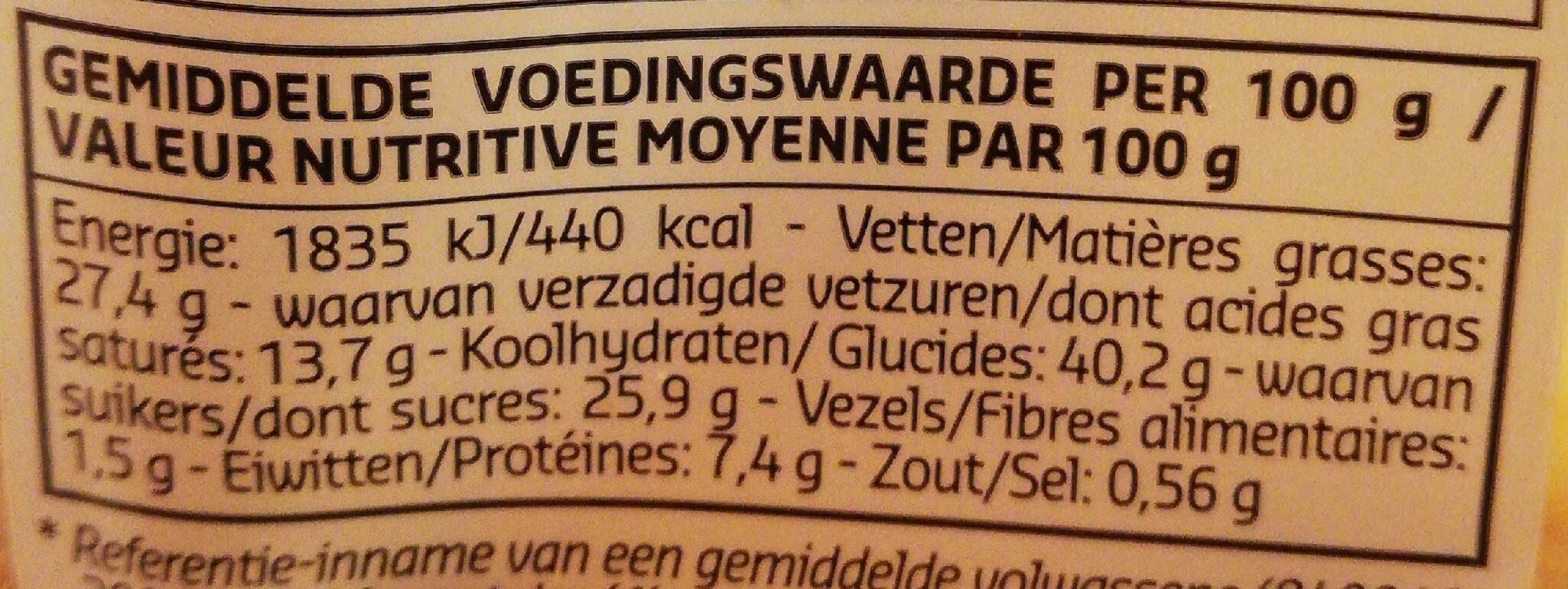 Amandines 100% beurre frais - Voedingswaarden - fr
