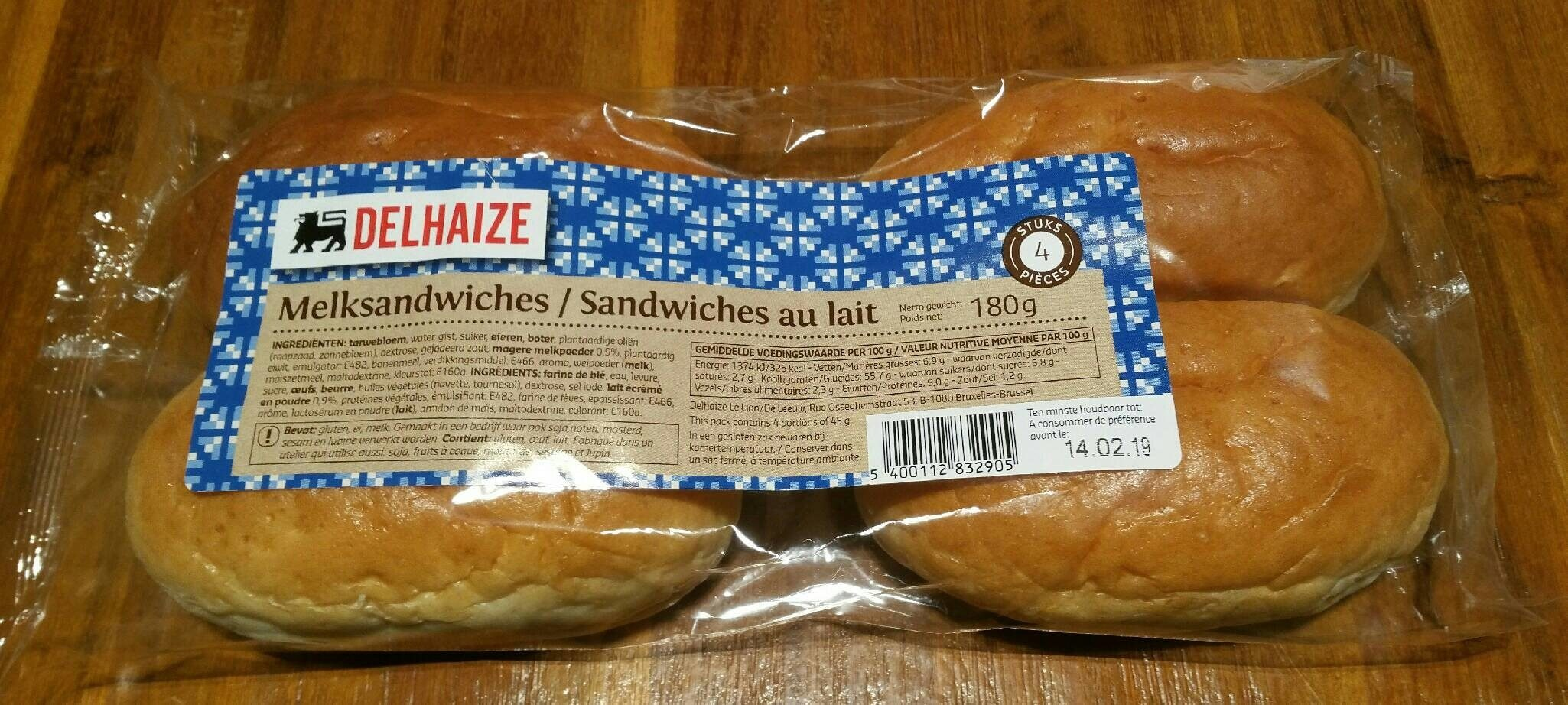 Sandwiches au lait - Product - fr
