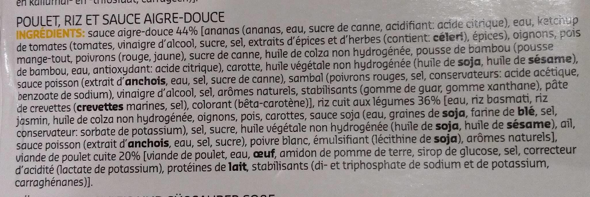 Chicken sweet sour - Ingrediënten - fr