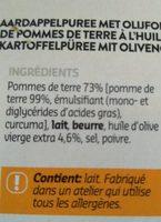 Purée à l'huile d'olive - Ingrediënten
