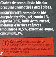Couscous aux épices - Ingredients
