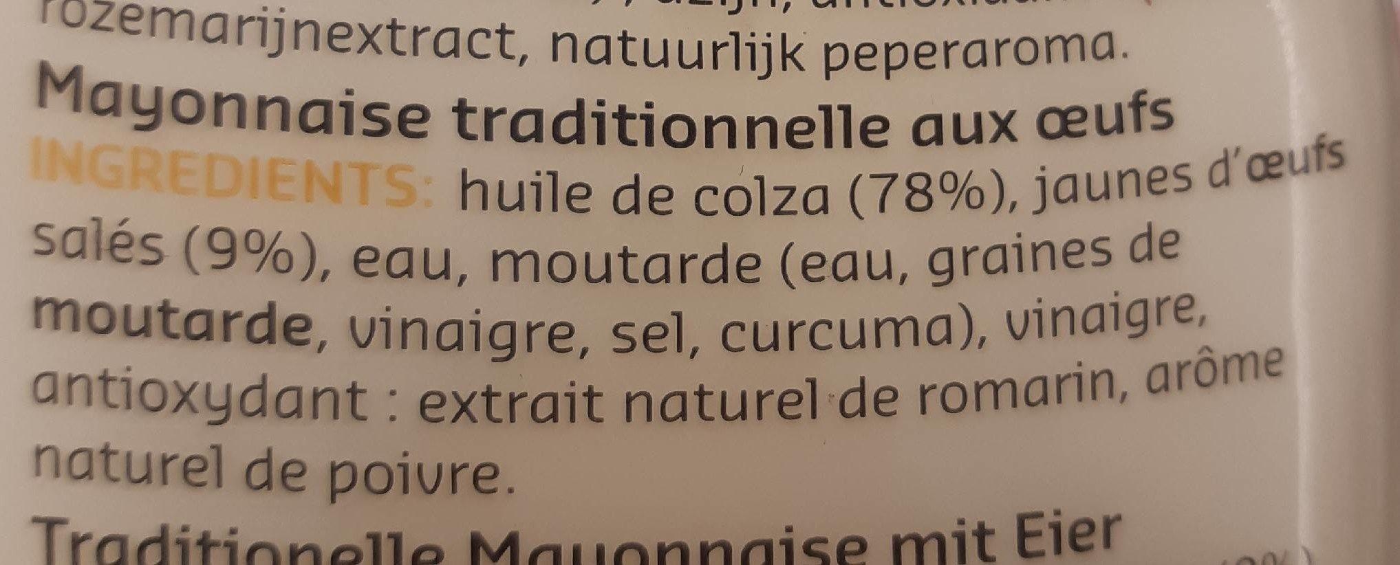 Mayonnaise aux oeufs - Ingrediënten - fr