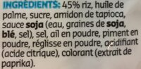 Hot Rice Crackers - Ingrediënten - fr