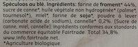 Speculoos traditionel Artisanal - Ingredienti - fr