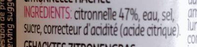 Minced lemongrass - Ingrédients - fr
