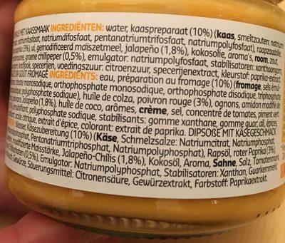 Torti'dip, Cheese - Ingrediënten