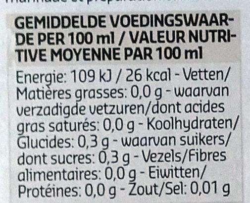Vinaigre de Xérès - Voedingswaarden - fr