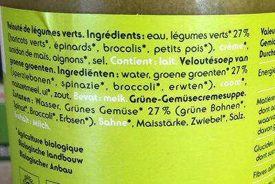 Legumes verts veloute - Ingrédients - fr