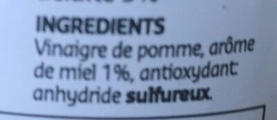 Vinaigre de cidre aromatisée au miel - Ingrediënten - en