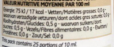 Vinaigre de cidre aromatisée au miel - Voedingswaarden - en