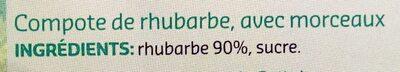 Compote Rhubarbe - Ingredients - fr