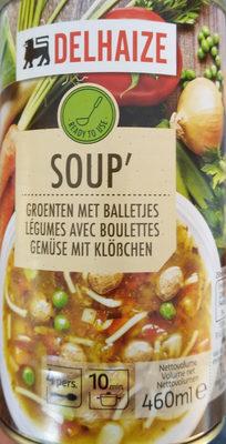 Soup' légumes avec boulettes - Produit