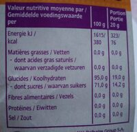 Sucettes massues cola. Yeah ! Lollies - Nutrition facts - fr