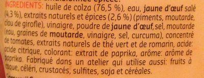 Samouraï - Ingrediënten