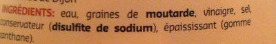 Moutarde De Dijon 300 g - Ingrédients - fr