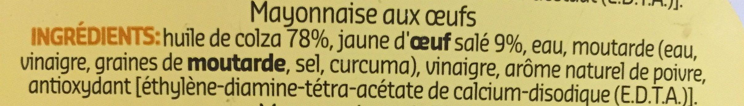 Mayonnaise oeufs - Ingrediënten - fr