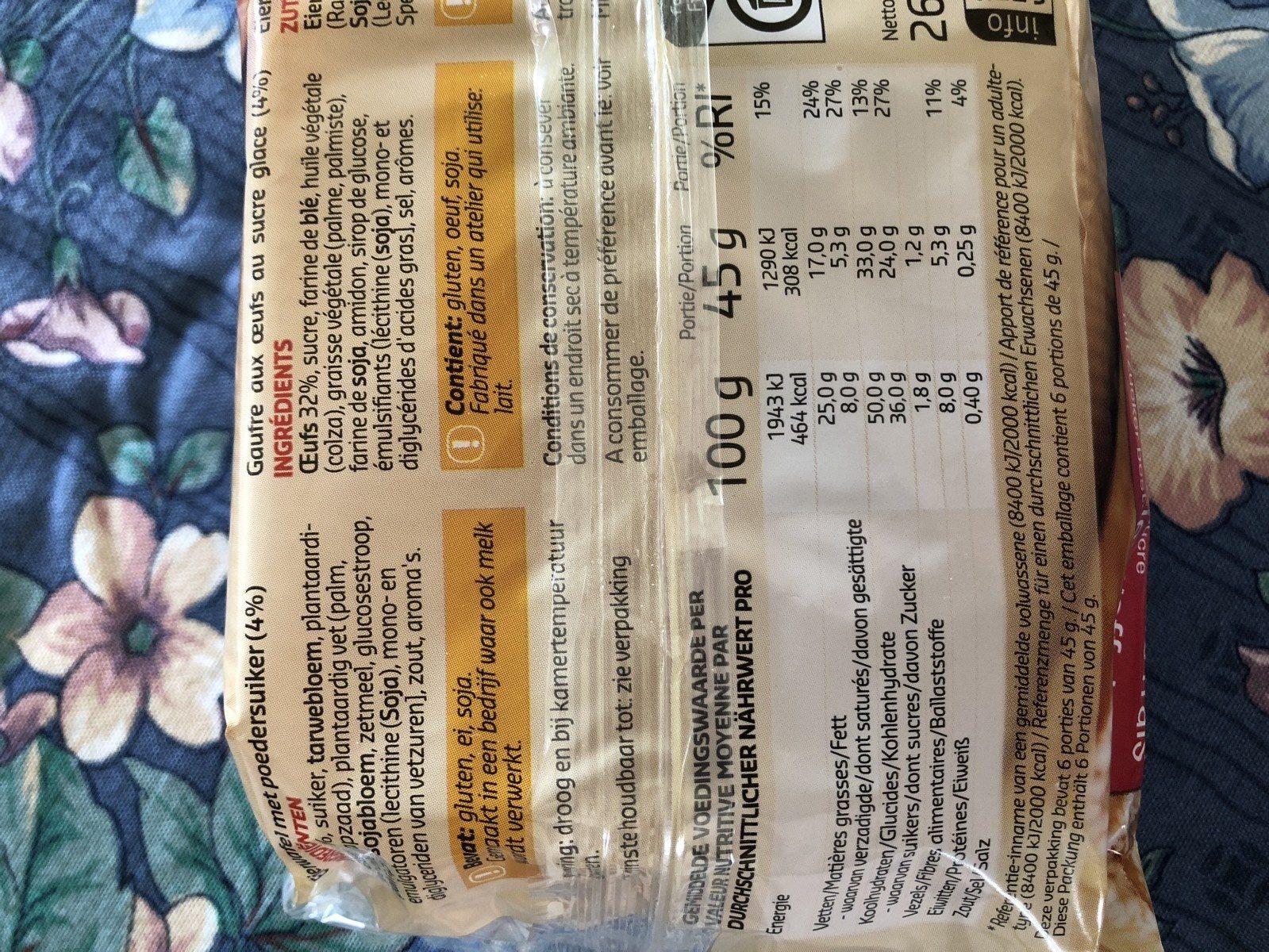 Galettes aux oeufs frais - Ingrédients