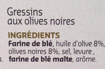 Grissini - Ingrediënten