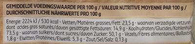 Eclairettes - Voedingswaarden - fr