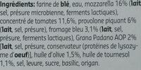 Pizza aux 4 fromages - Ingrediënten