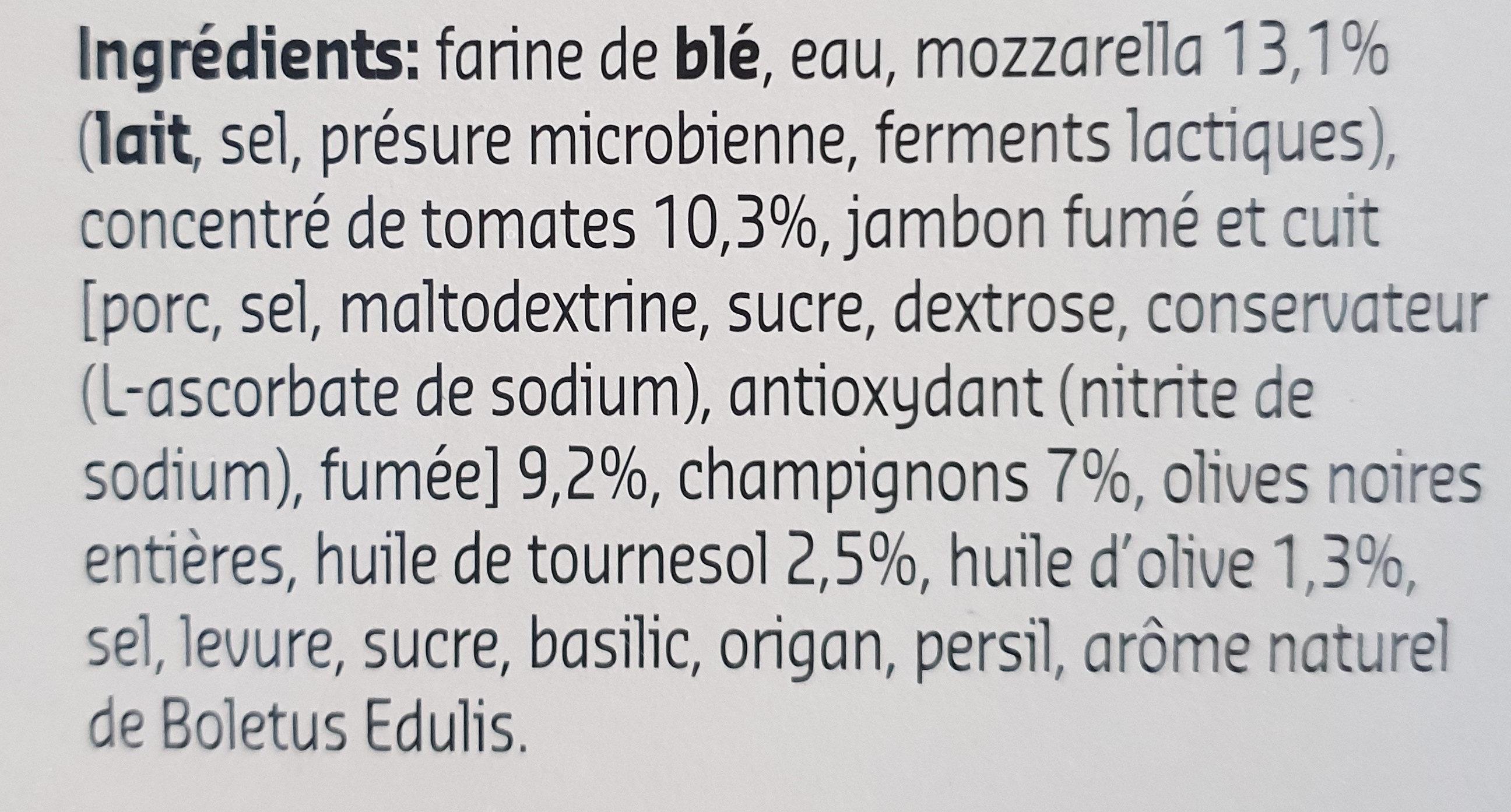 prosciutto e funghi - Ingrediënten - fr