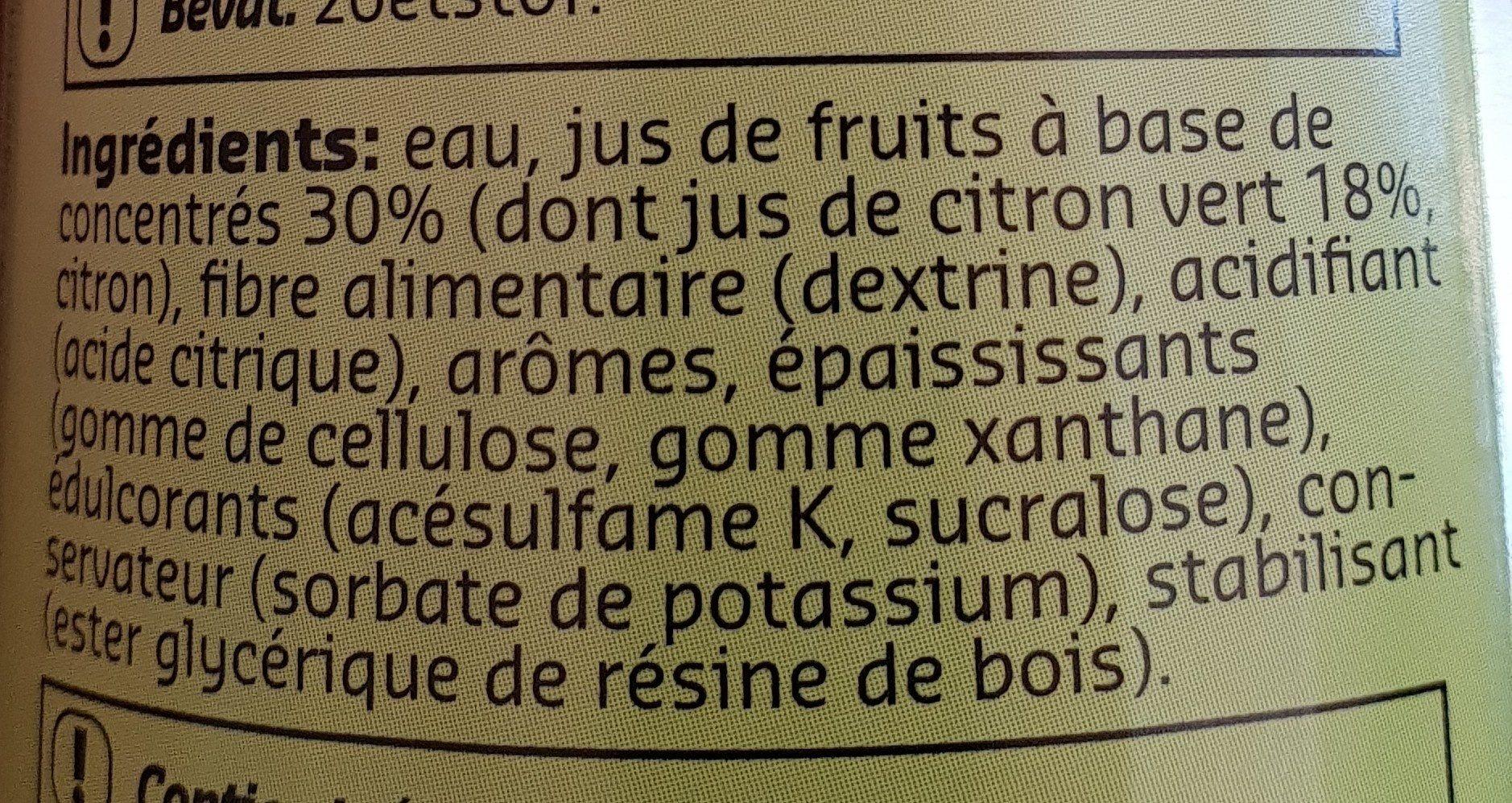 Green 0% - Ingrediënten - fr