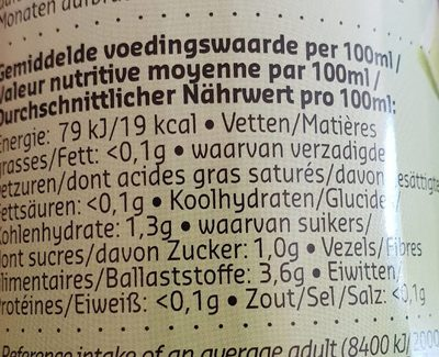 Green 0% - Voedingswaarden - fr