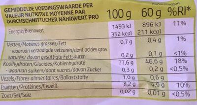 Riz blanc basmati - Voedingswaarden - fr