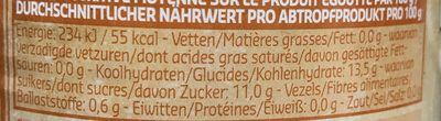 Ananas au jus en tranches - Voedingswaarden
