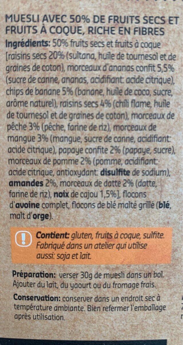 Muesli Dry Fruits - Ingrediënten - fr