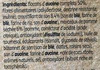 Muesli Croustillant à la Pomme avec Stévia - Ingredients - fr