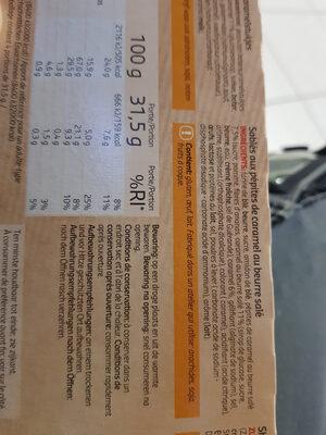 Sablé au caramel - Ingrediënten