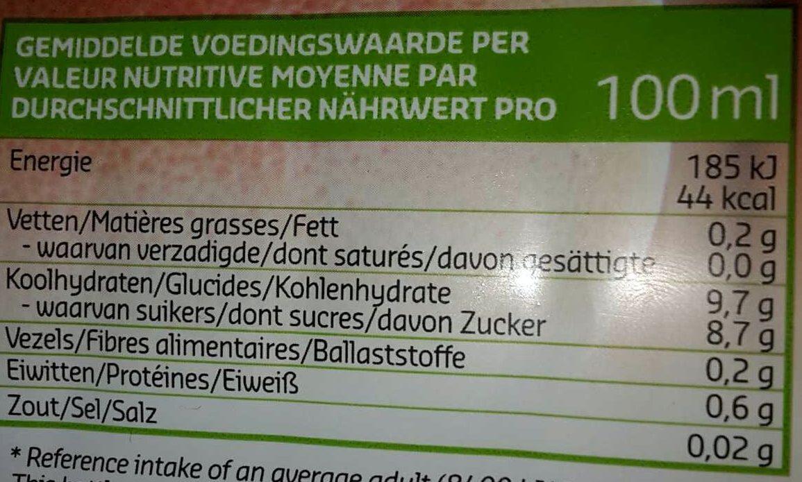 100% jus pamplemousse rose - Voedingswaarden - fr