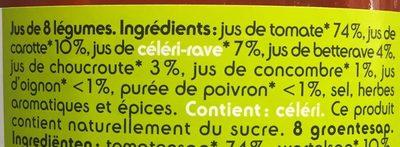 Jus De Légumes - Ingrediënten
