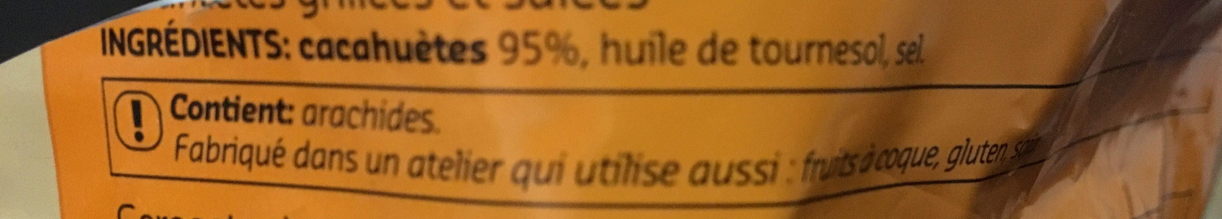 Cacahuetes grilles salees - Ingrédients - fr