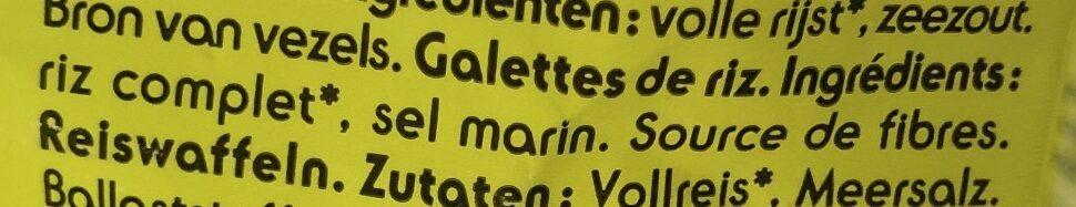 Galette De Riz - Ingrediënten