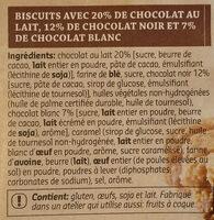 Cookies triple chocolat - Ingredients - fr