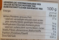 Cookies triple chocolat - Nutrition facts - fr