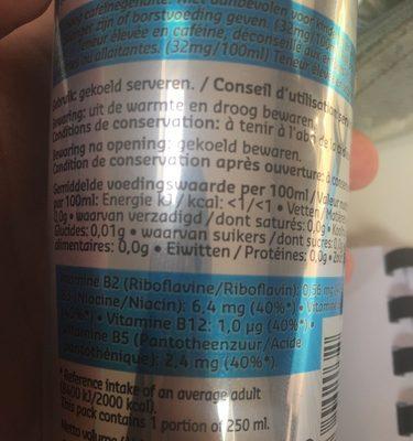 Delhaize-energy Drink (diet)-250ml-belgium - Ingrediënten - fr