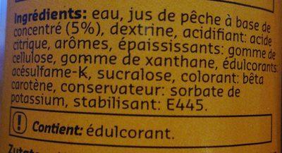 Sirop peche 0% - Ingrédients - fr
